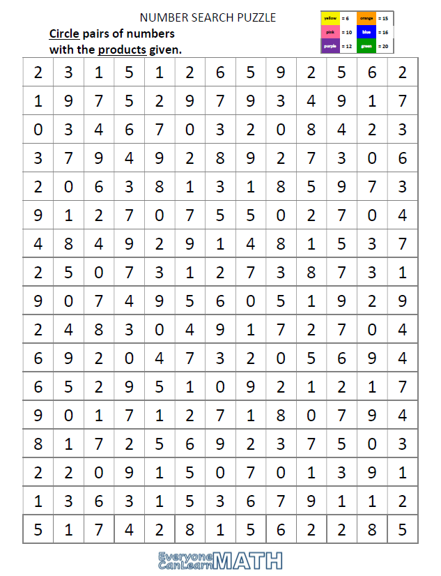 NumberSearchPuzzle_Products