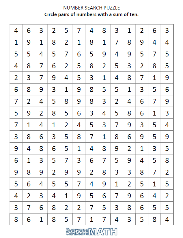 NumberSearchPuzzle_Sums